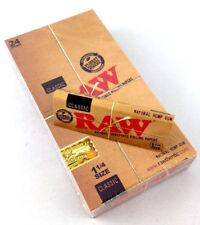 Raw (1 1/4) Classic Hemp Rolling Paper Full Box 24 ( pk) 🔥🔥Free Shipping🔥🔥