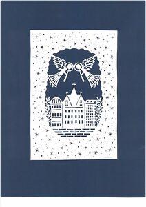 """City Angels"" Papercut by Famous Lithuanian Folk Artist"