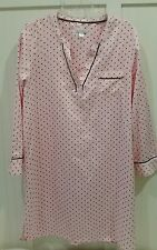 Carole Hochman Nightgown/Sleepshirt Size Large Pink/Black Dot nwt
