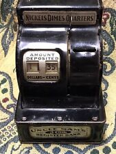 Black Uncle Sam's 3 Coin Register Bank, Antique As Found