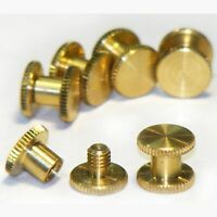 6x 5mm genuine brass Chicago bookbinding interscrews posts and screws