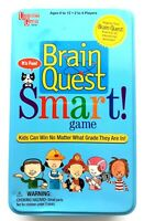 Brain Quest Smart Card Game In Tin Box for 2 - 4 Players Fun Educational Game