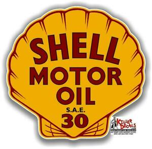 """(SHELL-24) 12"""" SHELL MOTOR OIL GAS PUMP OIL TANK DECAL LUBESTER DECAL STICKER"""