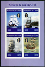 Chad 2019 MNH Captain James Cook Voyages 4v IMPF M/S Boats Ships Nautical Stamps