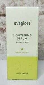 Evagloss Lightening Serum Kojic Acid Natural Skincare 20ml New SEALED