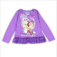 Toddler Girls L//S Pajamas Set FROZEN Pink Aqua ANNA ELSA Glitter 2T 3T 4T 5T