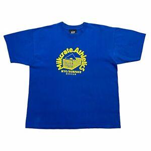 Milkcrate Athletics NYC Surface Division Tshirt   Vintage Indie Street Wear VTG