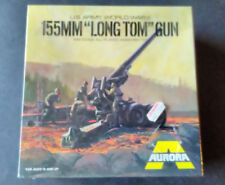 "Vintage 1973 1/48 Aurora 155mm ""Long Tom"" Cannon model kit"