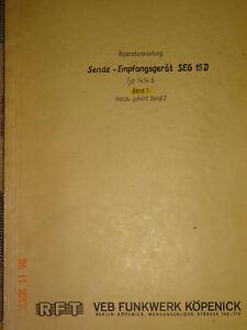 SEG15D  deutsche Reparaturanleitung Bd1, RFT / Funkwerk-Köpenick