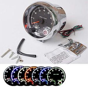 "3.75"" 0-8000 RPM Car Auto Gauge 7 Colours Tacho Meter for 12V Petrol Vehicle"