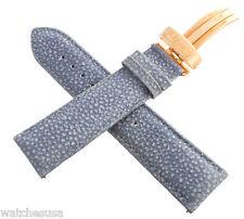 Rose Gold tone Buckle Watch Band Genuine JoJo, JoJino 22mm Light Blue Leather