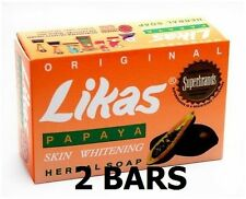 100% AUTHENTIC ORIGINAL Likas Papaya Skin Whitening Herbal Soap - 2 Bars 135G