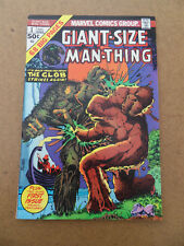 Giant-Size Man-Thing  1 . The Glob App / M. Ploog Cover .Marvel 1974. VF - minus