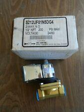 """#80 GC Valves Solenoid S212UF01N5DG4, 2-Way N.C, 1/2"""" NPT, 200 PSI, 24/60"""