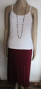 NEW SIZE10 BERRY PLEATED MAXI SKIRT