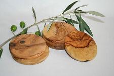 Lot de 6 sous-verres ronds en bois d'olivier (ref : 1200)