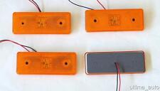 4X 4 LED Side Marker Amber Lights TRUCK LORRY TRAILER BUS MAN DAF 12V