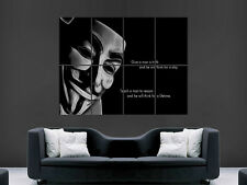 ANONYMOUS MASK PROVERB  ART WALL LARGE IMAGE GIANT POSTER