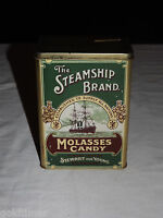 VINTAGE THE STEAMSHIP BRAND MOLASSES CANDY SOUVENIR SCOTTISH EXHIBITION TIN