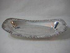 L Bros Old English Reproduction Ep On Copper Oval Bread Tray, Made In Canada