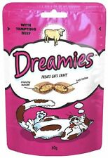 Dreamies Cat Treats Beef 60g - 8 PACK OFFER