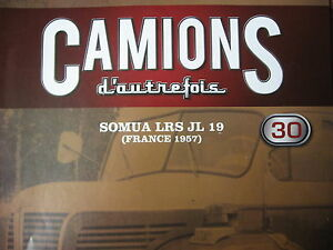 FASCICULE 30 CAMIONS D'AUTREFOIS  SOMUA LRS JL 19 1957 OPEL BLITZ  AUTOBUS ELEC