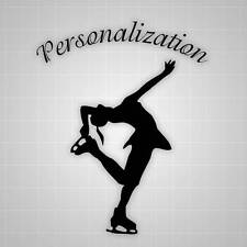 Personalized Figure Skating Wall Decal, Figure Skating Sticker - 22""