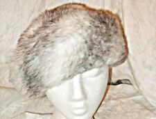 VINTAGE CHIC HEADWAYS BY ALBERT WINTER WHITE WITH BLACK FLECK WARM FUN FUR HAT