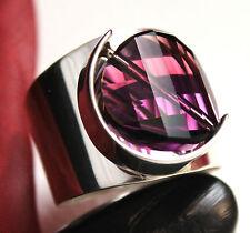 Design 925 Silber DAMEN RING mit SWAROVSKI Stein, Amethys, VERSTELLBAR !