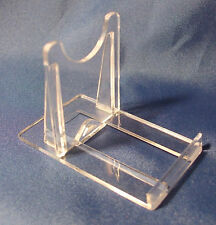20 X TWO PART PERSPEX TWIST DISPLAY STAND, IDEAL FOR DVD, CD, BOOK,MOBILE PHONES