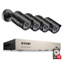 ZOSI 8CH 1080N DVR 1500TVL Outdoor Security Camera System with 1TB Hard Drive