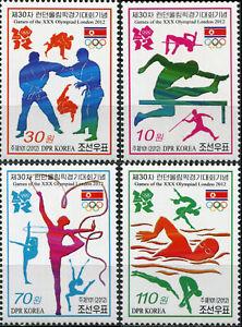 Corée 2012. Jeux olympiques d'été 2012 - Londres (NEUF **) série de 4 timbres