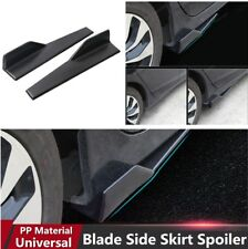 2PCS Car Side Skirt Rocker Splitters Winglet Wings Anti-scratch Diffuser Spoiler