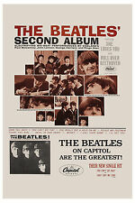 1960's Fab Four: The Beatles *Second Album* Promo Poster 1964 13 x 19  12x18
