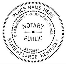 Notary Kentucky Custom Round Self Inking Official Notary Seal Rubber Stamp