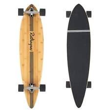 New Retrospec Skateboard Complete 41 Inch Zed Pintail Longboard Black Pipeline.