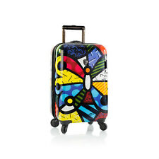 "HEYS ROMERO BRITTO  USA BUTTERFLY 21"" SPINNERS CARRY - ON LUGGAGE * NEW"