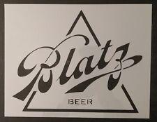 "Blatz Beer 11"" x 8.5"" Custom Stencil FAST FREE SHIPPING"