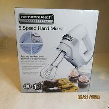 Hamilton Beach 62659E Professional 5 Speed Hand Mixer w/ Beater Whisk Dough E4