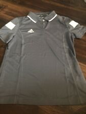 New Adidas Women's Polo Shirt Size Small Gray White