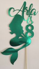 Personalised Custom Birthday Cake Topper Pretty Mermaid Add Your Age And Name