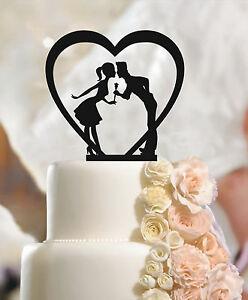 Fiance & Fiancee Cake Topper,  Heart, Engagement, Mr & Mrs, Decoration, Wedding