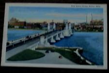 Vintage Color Tone Lithograph Postcard, West Boston Bridge, Boston Massachusetts
