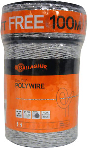 Gallagher Electric Fence Poly Wire   Bonus Pack - 1312 Ft Plus Free 328 Ft