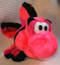 "11"" Long Pink, Black & Purple Plush Classic Toy Co. Fish"