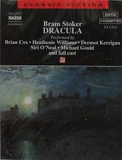 Dracula by Bram Stoker 3 Cassette Naxos Audio Book Brian Cox Full Cast Very RARE