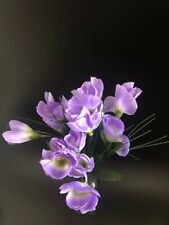Home Decor Crocus Bunch Artificial Flowers Violet
