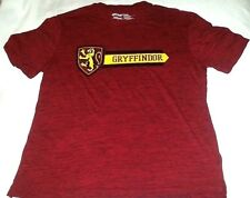 Harry Potter Griffindor Crest And Logo Burgundy Red Shirt Size L