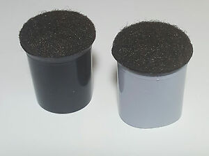 """7/8"""" REPLACEMENT CHAIR TIPS W/ FELT 100 PK Grey Sleeve or Black Sleeve"""