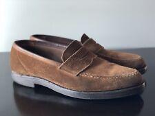 Crockett & Jones Harvard snuff suede Shoes Penny Loafer us 9D 9 D UK 8E Alden